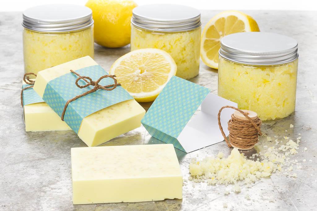 Ekologisk citronskrubb och egen tvål