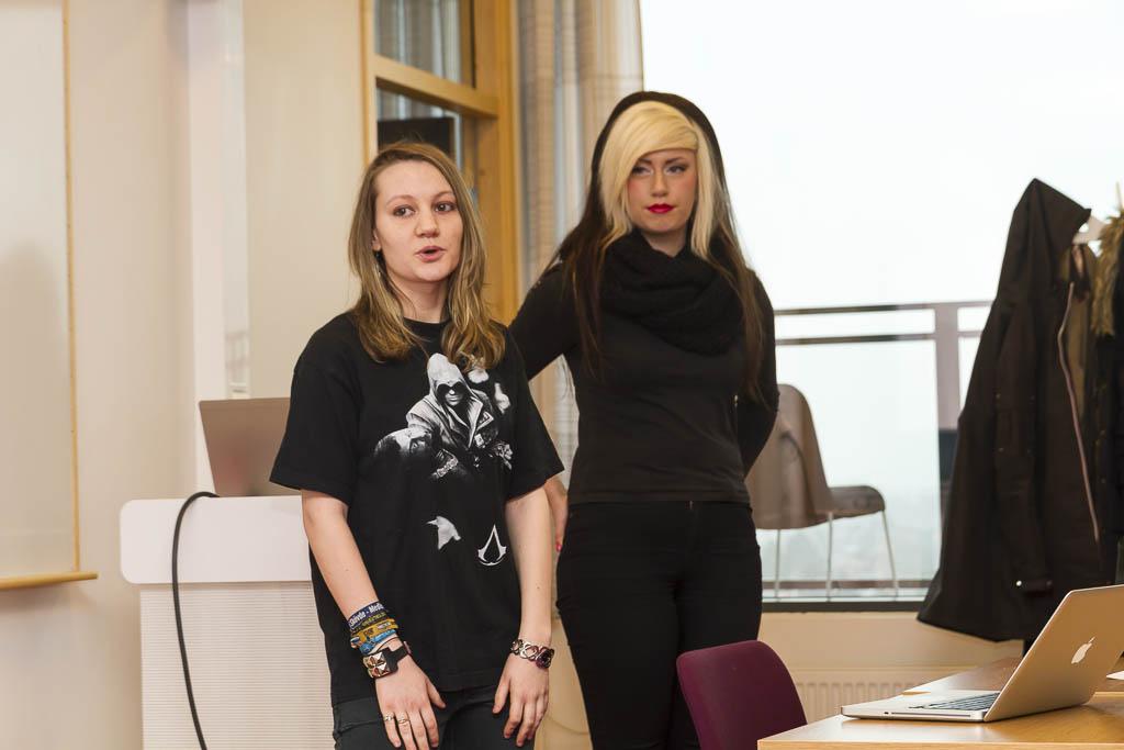 Julia Lacris Weber och Moa Lenngren | Foto: Michael Krantz