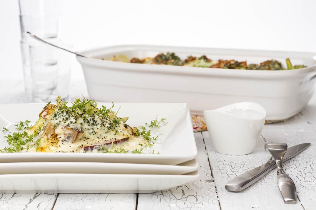 Kasslergratäng med broccoli | Foto: Michael Krantz