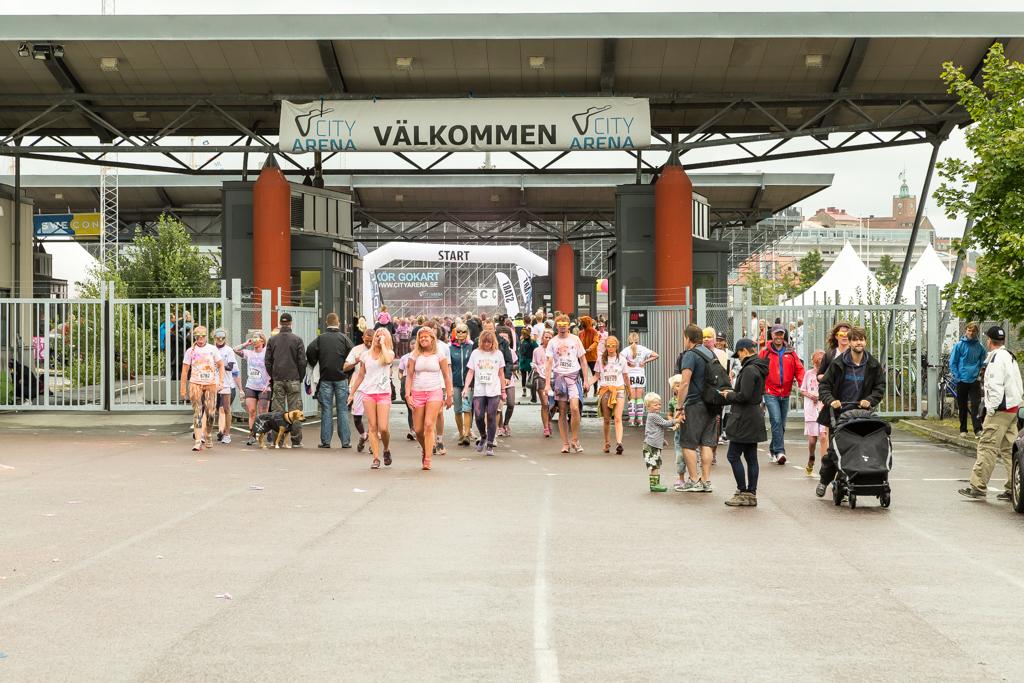 Deltagare som startat eller är klara? Color me rad Göteborg | Foto: Michael Krantz