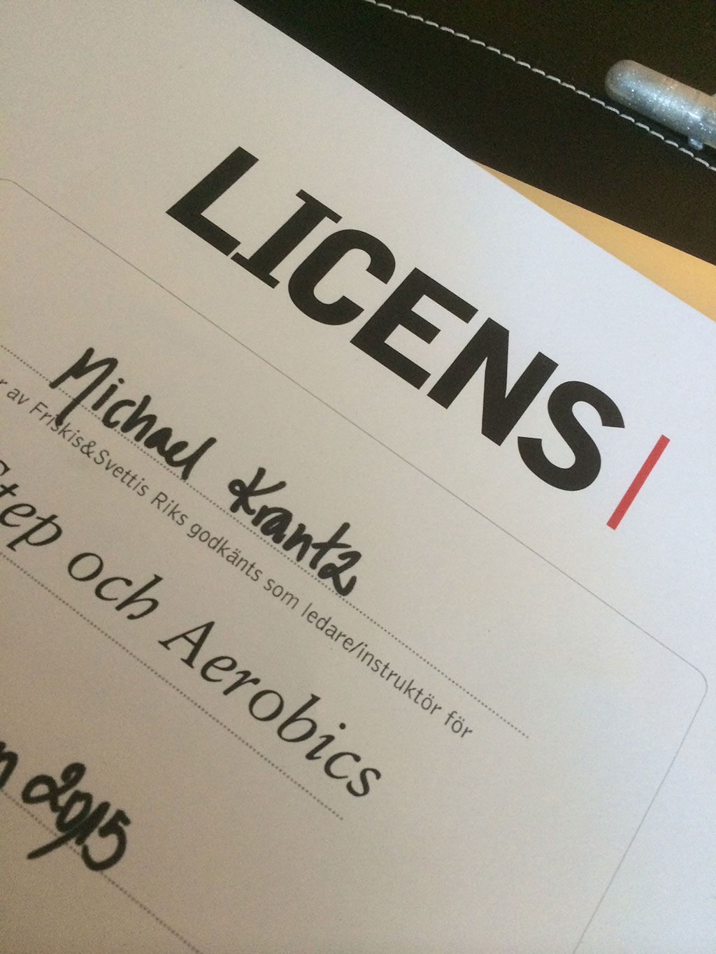 Licensierad – yeay!