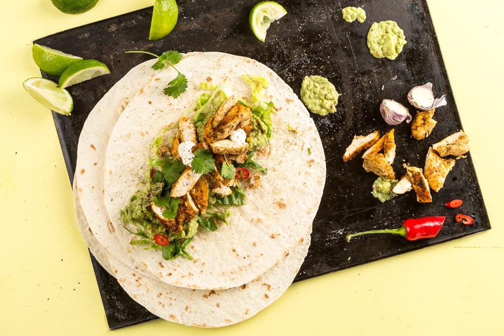 Kycklingtortilla med avokadokräm #taco