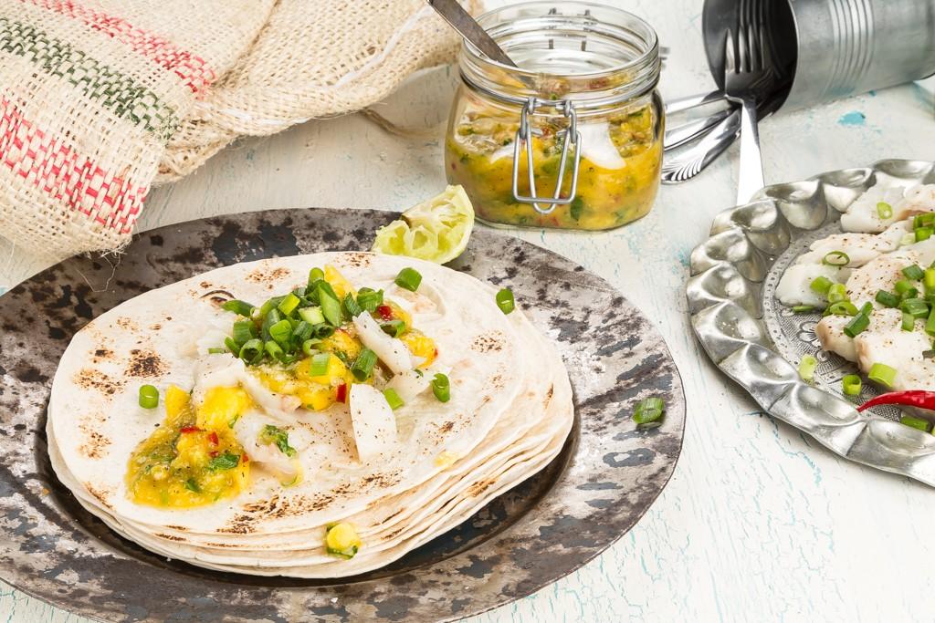 Tacos med mangosalsa