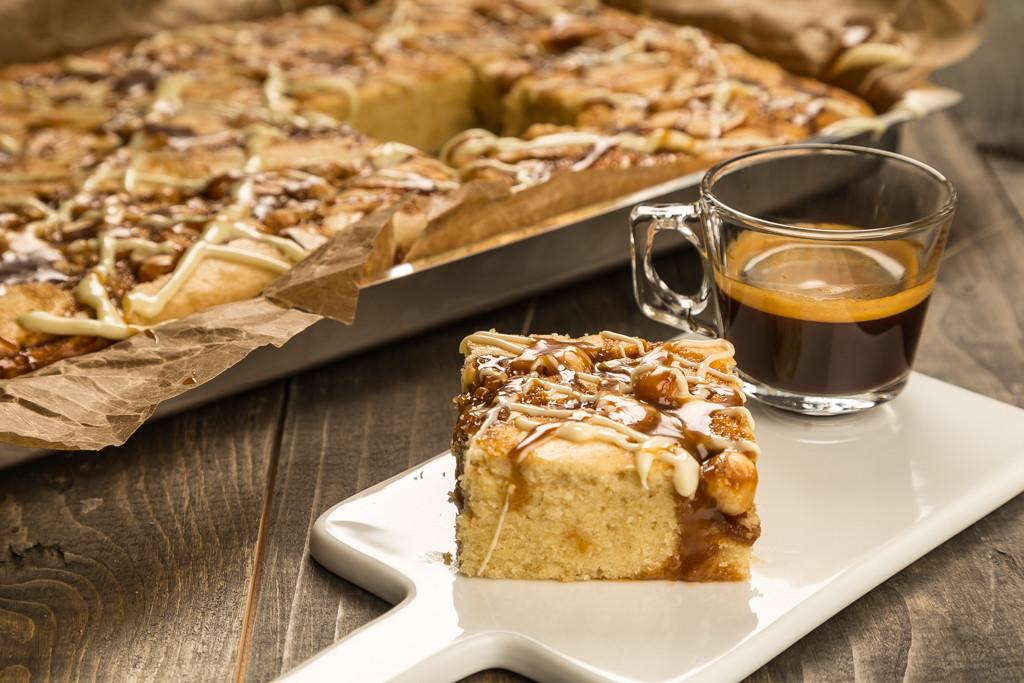 Kaffe- & karamellkaka #internationalcoffeeday
